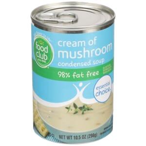 Cream Of Mushroom Condensed Soup - 98% Fat Free