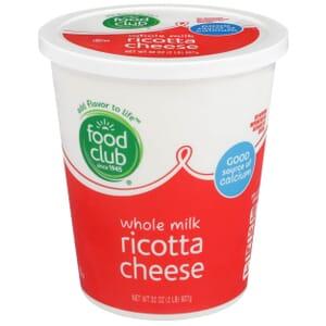 Whole Milk Ricotta Cheese