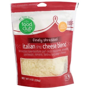 Finely Shredded Italian Cheese Blend