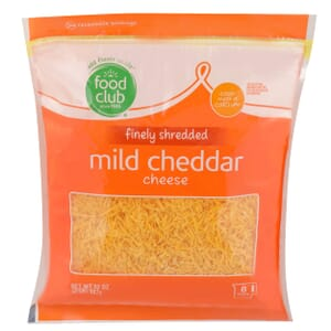 Finely Shredded Mild Cheddar Cheese