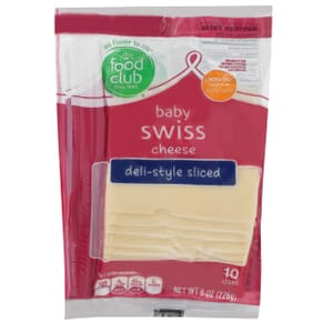 Baby Swiss Cheese, Deli-Style Sliced