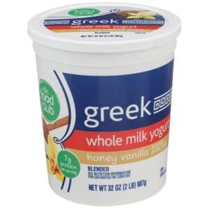 Honey Vanilla Greek Whole Milk Yogurt, Blended