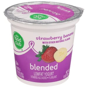 Strawberry Banana Lowfat Yogurt, Blended