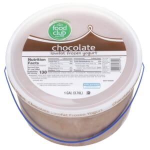Chocolate Frozen Yogurt, Lowfat