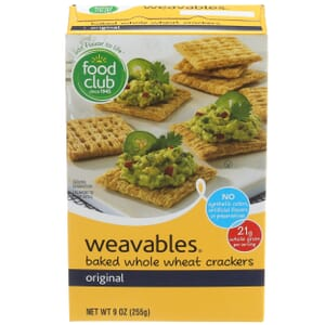 Weavables Crackers - Baked Whole Wheat, Original