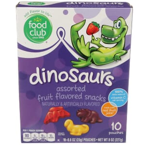 Fruit Snacks, Dinosaurs