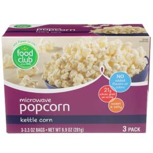 Microwave Popcorn, Kettle Corn