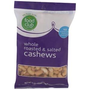 Cashews - Whole Roasted & Salted