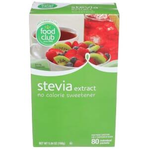 Stevia Extract, No Calorie Sweetener