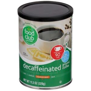 Ground Coffee - Decaffeinated, Medium-Dark