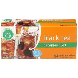 Black Tea, Decaffeinated