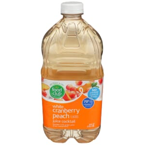White Cranberry Peach Juice Cocktail