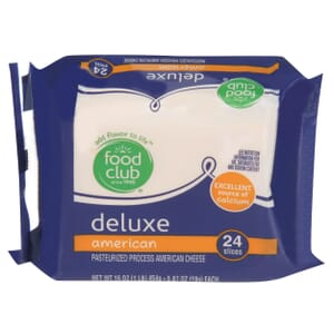 Deluxe American Pasteurized Process American Cheese