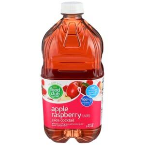Apple Raspberry Flavored Juice Cocktail