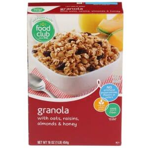 Granola with Oats, Raisins, Almonds & Honey