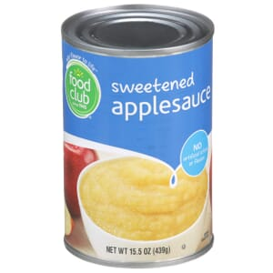 Applesauce, Sweetened
