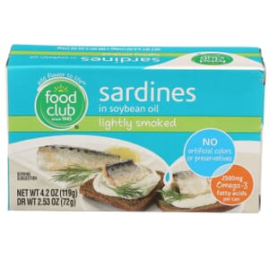 Sardines In Soybean Oil, Lightly Smoked