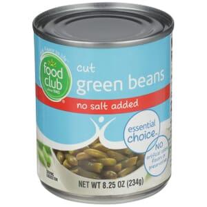 Cut Green Beans - No Salt Added