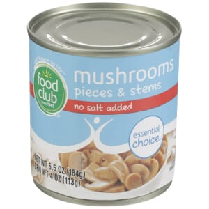 Mushrooms, Pieces & Stems - No Salt Added