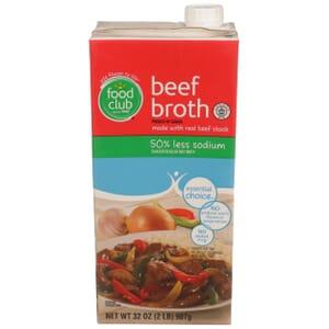 Beef Broth - 50% Less Sodium