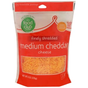 Finely Shredded Medium Cheddar Cheese