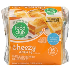 Cheezy Does It, Slices, Pasteurized Prepared Cheese Product