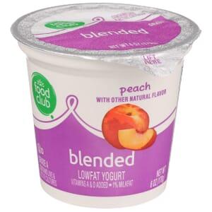 Peach Lowfat Yogurt, Blended