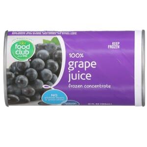 100% Grape Juice Frozen Concentrate