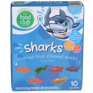 Fruit Snacks, Sharks