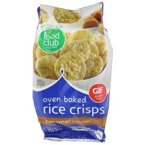 Oven Baked Rice Crisps, Caramel