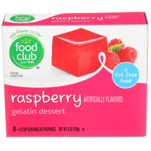 Raspberry Gelatin Dessert