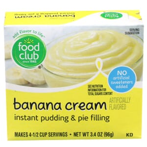 Banana Cream Instant Pudding & Pie Filling