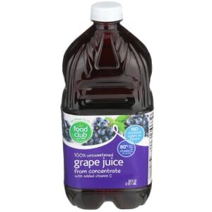 100% Unsweetened Grape Juice