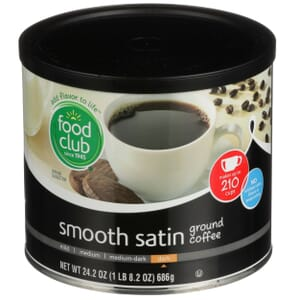Ground Coffee - Smooth Satin, Dark