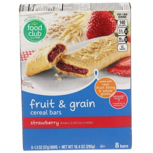 Strawberry Fruit & Grain Cereal Bars