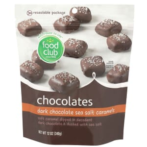 Dark Chocolate Sea Salt Caramels Chocolates