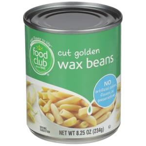 Cut Golden Wax Beans