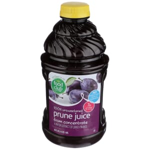 100% Unsweetened Prune Juice From Concentrate
