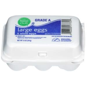 Grade A Large Eggs, White