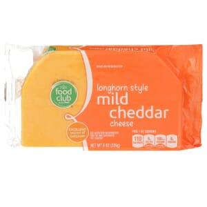 Longhorn Style Mild Cheddar Cheese