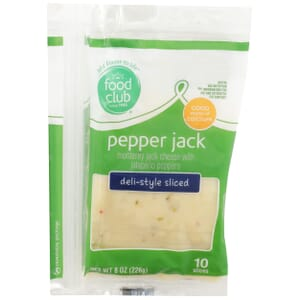 Pepper Jack Cheese, Deli-Style Sliced