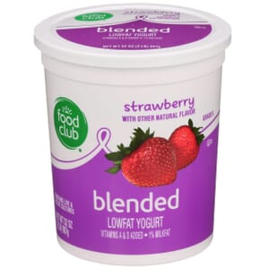Strawberry Lowfat Yogurt, Blended