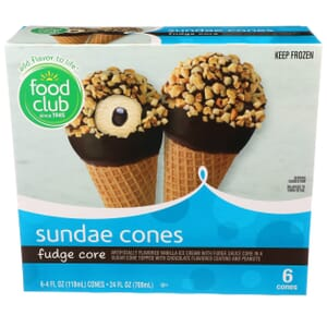 Fudge Core Sundae Cones