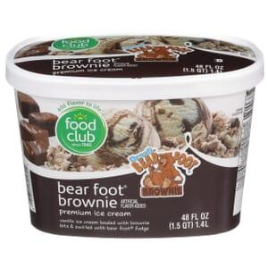 Bear Foot Brownie Premium Ice Cream