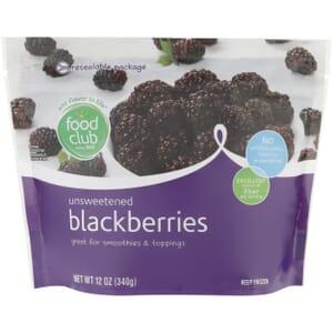 Blackberries, Unsweetened