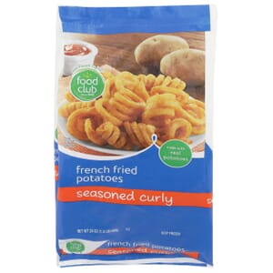 French Fried Potatoes, Seasoned Curly