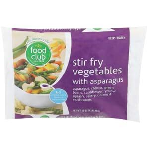 Stir Fry Vegetables With Asparagus