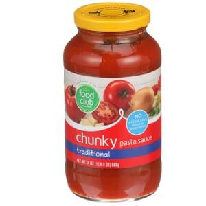 Chunky Pasta Sauce, Traditional