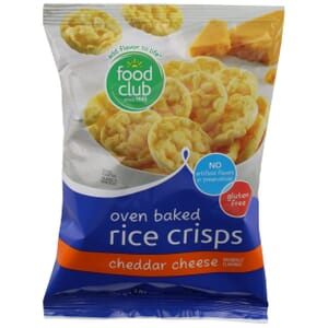 Oven Baked Rice Crisps, Cheddar Cheese