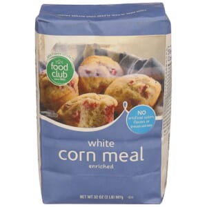 White Corn Meal, Enriched